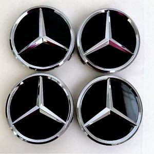 4pcs x 75mm Wheel Center Caps fit for Mercedes Benz Emblem Logo Wheel Rim Hub