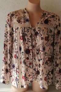 MAGALI PASCAL multicoloured patterned  blouse V neckline & zig zag pattern sz M