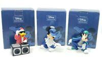 Enesco Disney Showcase DSSHO Urban DJ Donald Goofy Mickey Mouse Figurines Set