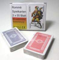 10x55 Romme Karten Kartenspiel Spielkarten Rommekarten Canasta Bridge Skat Poker