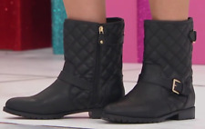 Sporto® Molly Quilted Boot with Buckle Detail, Black 5.5M