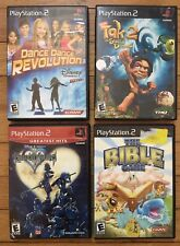 lot of 4 E rated video games The Bible Kingdom Hearts Tak 2 Dance PlayStation 2