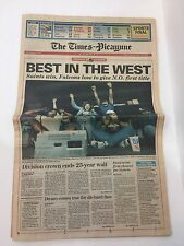 VTG  1991 DIVISION CHAMPS NEW ORLEANS SAINTS FOOTBALL NFL NEWSPAPER WHO DAT!!