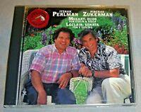 MOZART Duos LECLAIR Sonata: Itzhak PERLMAN Pinchas ZUKERMAN CD promo 1991 NM/EX+