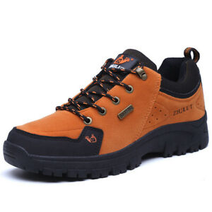 Mens's Fur Lining Warm Outdoor Hiking Shoes Waterproof Camping Non-slip Sneakers