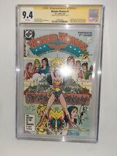 DC Wonder Woman #1 CGC 9.4 SS George Perez 1987 New Origin x5 1st Appearances