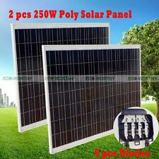 250w Watts 24v Solar Panel Polycrystalline for RV Car Boat Motorhome Battery