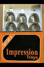 DENTAL IMPRESSION TRAYS SET SOLID DENTURE DENTAL INSTRUMENTS U2 U3 U4