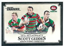 2013 NRL Traders 2012 Retirements (R4/10) Scott GEDDES South Sydney Rabbitohs