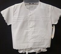 NWT Will'beth 0 Christening Baptism 2 pc White Outfit Baby Dedication Reborn NB