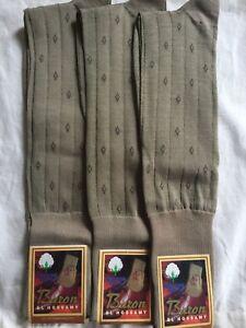 3 Pair 100% Men Mercerized Egyptian Cotton Over The Calf Socks 9-11 Gift
