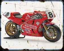 Honda Rc30 Fogarty 1 A4 métal signe Moto Vintage Aged