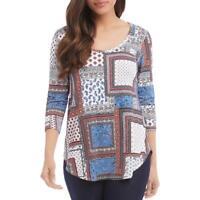 Karen Kane Womens Paisley Shirttail Boho T-Shirt Top BHFO 1094