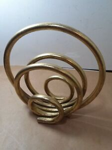 Interesting abstract modernist gold metal table sculpture about 8.5 x 8