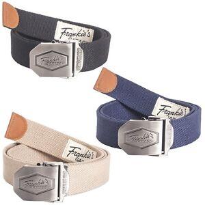 Frankie's Garage 3x Belt Metall-Schnellverschluss 3 Piece Stoffgürtel&schnalle