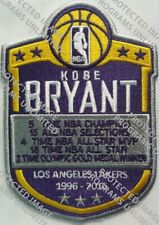 KOBE BRYANT LOS ANGELES LAKERS JERSEY STYLE PATCH 1996-2016 SHIP 2/15 EMBROIDERY