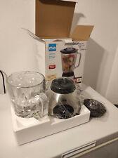 MIA Edelstahl Standmixer 1,5l Glaskrug Milchshaker Cocktails Crushed Eis NEU