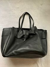 MANGO GORGEOUS LIMITED EDITION AUTHENTIC DESIGNER BLACK LEATHER LARGE TOTE BAG