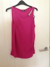 Mexx Hot Pink Top with Silver Shoulder Detail XL Stunning