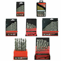 A choice of Drill Bit sets ranging from 13pc 1mm to 25pc 13mm HSS, Steel, Wood,