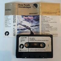 DEEP PURPLE STORMBRINGER CASSETTE TAPE 1974 PAPER LABEL EMI PURPLE OVERSEAS UK
