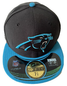 NEW ERA CAROLINA PANTHERS 7 5/8 SUPER BOWL 50 HAT $40 DS TEAM ISSUE NFL PATCH