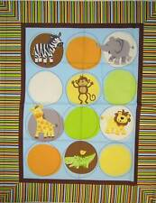 Safari Tots Animal Quilt Panel by Springs Creative btp REDUCED PRICE