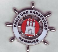 maritimer 3 d Hamburg  Wappen ,Coat of Arms Pin,Badge,Hamburger Stadtwappen