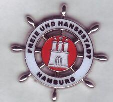 maritimer 3 d Hamburg  Wappen ,Coat of Arms Pin,Badge,Hamburger Stadtwappen