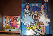 RARE Flintstones Pebbles & Bamm Bamm Kelly Dolls, Wilma & Betty Barbies all MIB