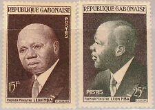 GABON GABUN 1959 151-52 148-49 Prime Minister Leon Mba Proclamation of Rep. MNH