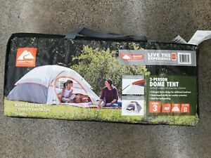 Ozark Trail 3 Person Dome Tent Camping Backpacking Bug Out(New Sealed never open