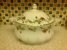 CHODZIEZ CHINA PINK ROSES DESIGN CASSEROLE DISH VEG SERVING DISH TUREEN