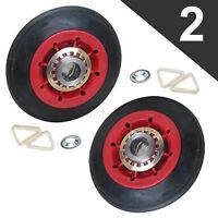 Maytag Whirlpool Kenmore KitchenAid Dryer Rollers (2 PACK) See Model Fit List