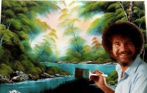 Jigsaw Puzzle Bob Ross Joy of Painting DEEP FOREST LAKE 300 Pcs - Cardinal