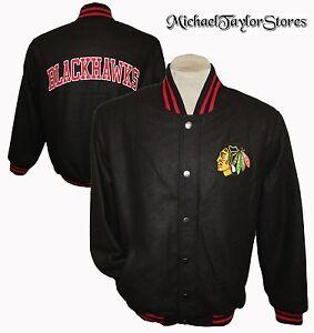 Chicago Blackhawks NHL G-III Men's Black Embroidered Wool Winter Jacket