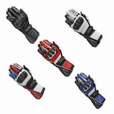 Leather Held Motorcycle Gloves with Visor Wipe