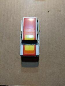 VINTAGE AURORA CHEVY BLAZER WHITE AND ORANGE SLOT CAR