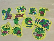 1977 Marvel Comics Incredible Hulk Stickers - Various Types Available