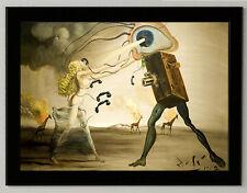 Salvador Dali  Modern Rhapsody 8.3X11.7 canvas print framed art reproduction