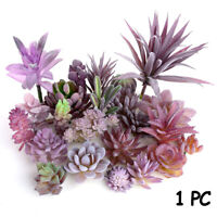 Wall Flocking Plants Artificial Flower Purple Succulents Simulation Grass