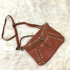New-JESSLYN BLAKE Orange Leather Crossbody Bag/ Handbag
