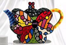 Romero Britto Full Size Ceramic Butterfly  Teapot Retired