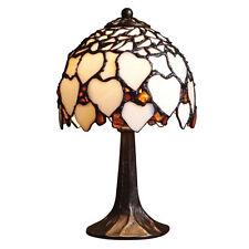HERZ BERNSTEIN / Tiffany-Stil / Tischlampe / 17 cm / Handgefertigtlampe buntglas