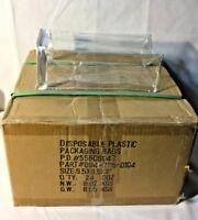 "CASE LOT OF 24 DOZEN (288ct) ZIPPERED PLASTIC PACKAGING BAGS 5.5""X9.5""X3"""