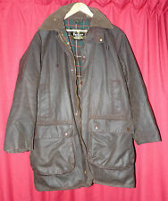 Barbour Northumbrian brown waxed jacket little used & hood c44 LOOK AT THIS