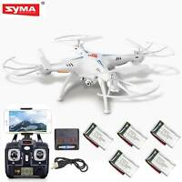 5 Batteries Syma X5SW-V3 RC Quadcopter FPV Drone 2.4Ghz Headless HD WIFI Camera