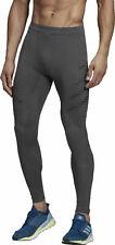 MSP $90 adidas Speed Mens Long Running Tights - Grey DP3947