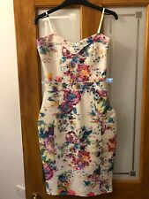 Lipsy Floral Bodycon Dress Size 10