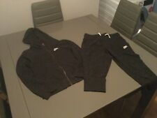 Girls Nike Charcoal Tracksuit (3/4 Length Bottoms & Hooded Top) - Size: L